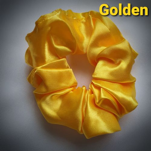 Golden Satin Scrunchie